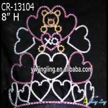 Wholesale Heart Holiday Valentine'S Day Pageant Crowns