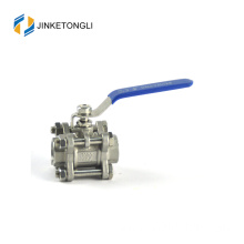 JKTL3B048 spring loaded 3 piece high pressure cast iron 1/2 inch ball valve