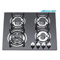 Four Burners Built In Kitchen Tempered Glass GasHob