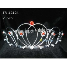 Red Rhinestone Wholesale Girl Tiaras