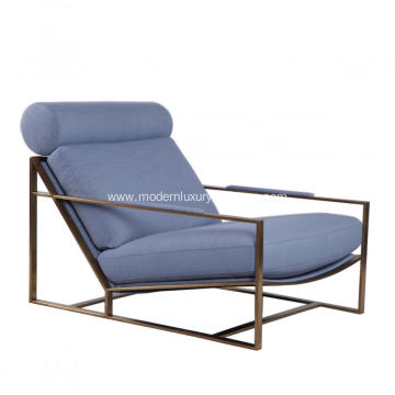Modern Milo Baughman Brushed Stainless Steel Lounge Chair