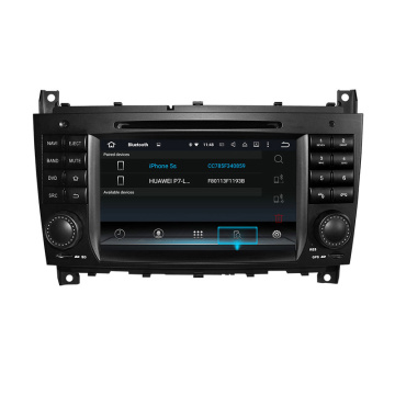 Double Din DVD Player na Benz C CLK
