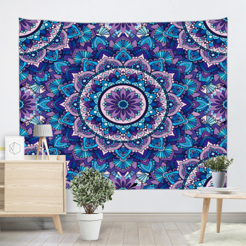 Bohemian Tapestry Mandala Wall Hanging Indian Hippie Boho Psychedelic Tapestry for Livingroom Bedroom Home Dorm Decor