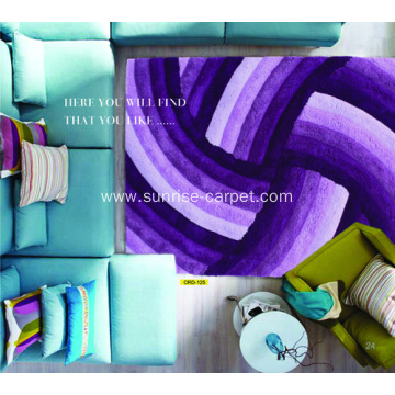Microfiber Soft Yarn 3D Design Carpet