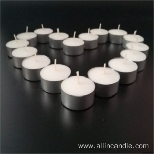 6hours burn time white tealight candles