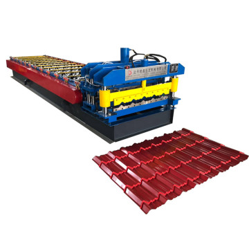 Glazed metal steel sheet rolling machine
