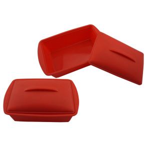 Camping rectangle crisper bowl Silicone lunchbox