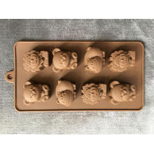Animal chocolate ice mold silicone cartoon tool