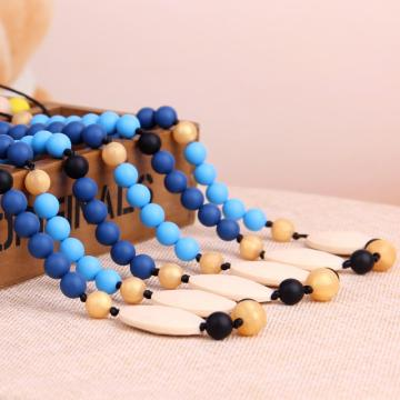 Safe BPA Free Beaded Baby Teething Necklace