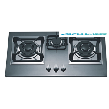 3 Burners Stainless Steel Built in Gas Hob