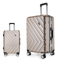 ABS PC aluminum frame luggage set of 3
