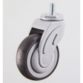 Medical Caster Screw with Brake PU Caster