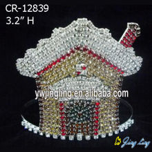 Customized Supplier for Candy Pageant Crowns Gingerbread House Christmas House Holiday Crown Tiara export to Malta Factory