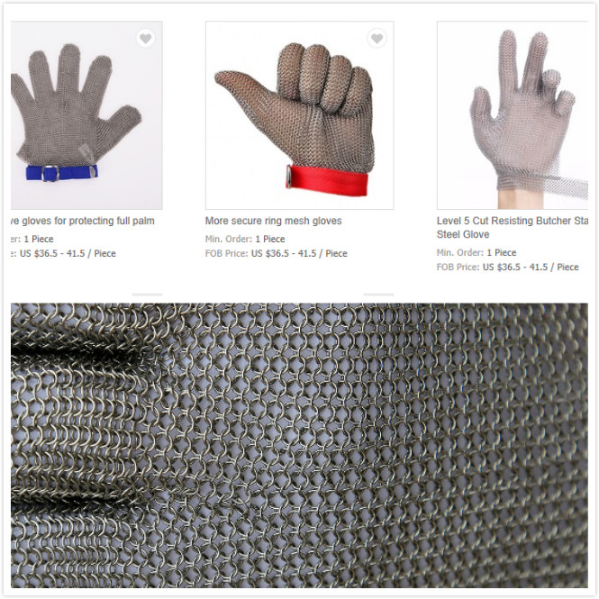 Butcher Stainless Steel Glove Easy To Clean Metal Claw Strap