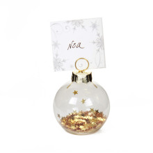 Glass Place Card Holder Ornament Christmas Wedding Decor