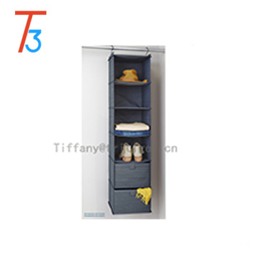 2016 Shelf Shoes Clothing Hanging drawer Closet Organizer gray cationic fabric 10 shelf hanging organizer