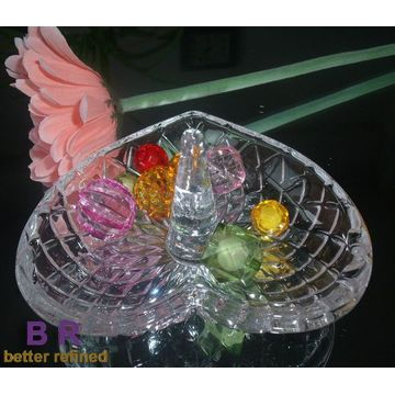 Best Quality for Jewelry Ring Holder Heart Shaped Crystal Glass Ring Holders export to Algeria Manufacturers