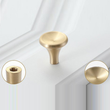 Modern and Simple Brushed Solid Brass Furniture Handle