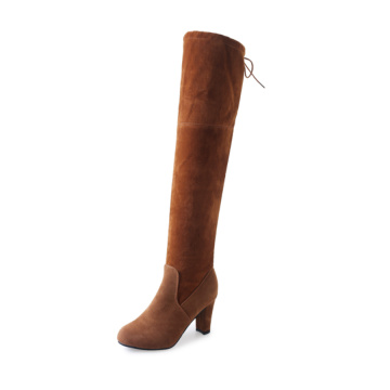 Women's Aplush Suede Over-the-knee High Heel Boots