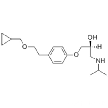 2-Propanol,1-[4-[2-(cyclopropylmethoxy)ethyl]phenoxy]-3-[(1-methylethyl)amino]-,( 57187859,2S)- CAS 93221-48-8