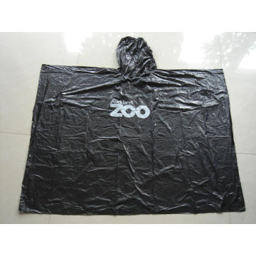 Adult Disposable Rain Poncho With Logo