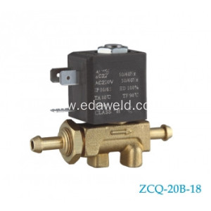 Europe Type AC12V 24V Tube Connector Valve