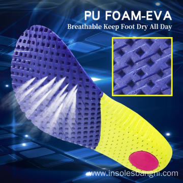 Breathable mesh molded EVA insoles soft shoe pad