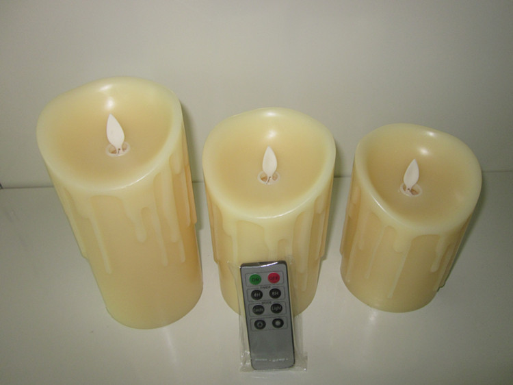 Remote Control Led Pillar Candle