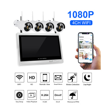 wireless 4 camera System indoor and outdoor