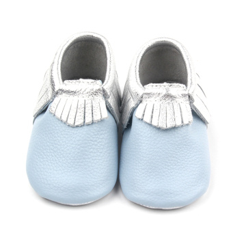 Season Leather Baby Fringe Shoes Moccasins