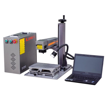 Portable 30W CNC Metal Plate Fiber Laser Writing Machine