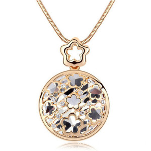 Wholesale Gold Flower Pendant Necklaces