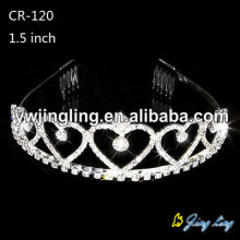 Cheap Heart Crowns Rhinestone Pageant Crowns