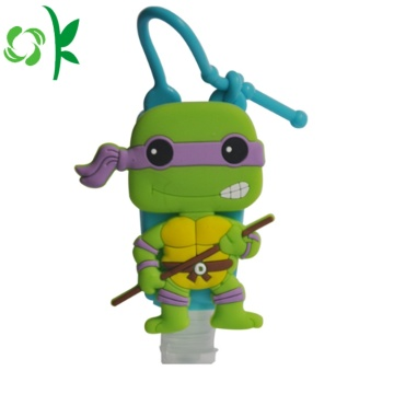 Cartoon Design Silicone Custom Sanitizer Holder for Bag