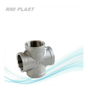 Industrial Cross Pipe Fitting in Stainless Steel