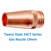 Good Quality for Gas Cutting Nozzle Tweco 5# 24CT75 Gas Nozzle export to Cuba Suppliers