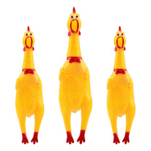 Funny Dog Toys Rooster Crows