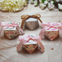 Candy box wedding with a ribbon