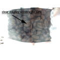 clear window aluminium foil white zipper bag