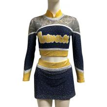Spakle Mesh Fabric Little Girls Cheer Uniformer