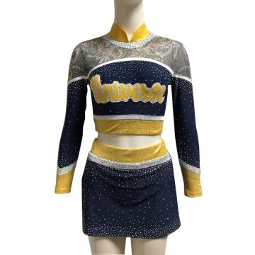 China Gold Supplier for Cheerleader Uniform spakle mesh fabric little girls cheer uniforms supply to San Marino Exporter