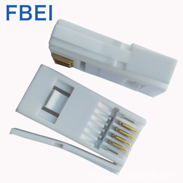 6P4C/6p6c UK plug RJ11 connector