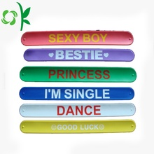 Beautiful Silicone Reflective Magnetic Slap Wristbands