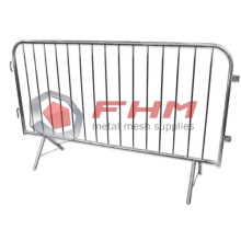 Economy Interlocking Steel Barricades with Flat Bases
