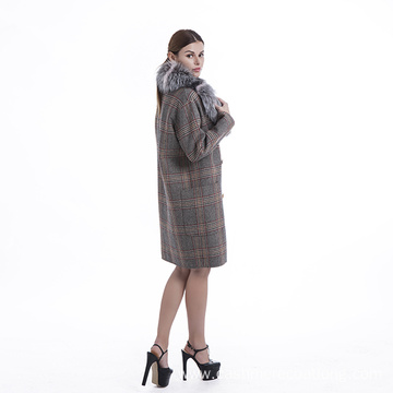 Fashionable pure cashmere overcoat for women
