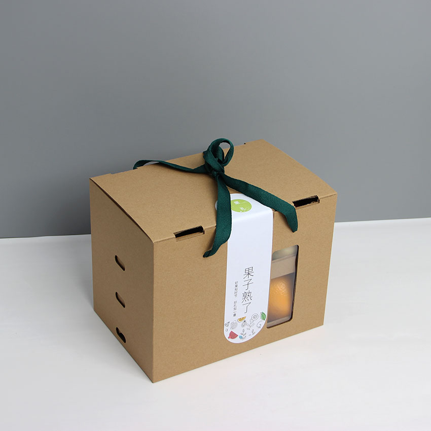 3-ply Fruit Box Transparent Window Kraft Paper