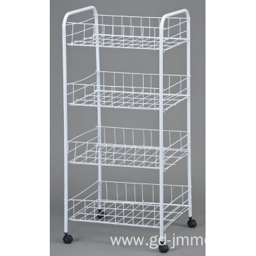 4 Tier metal rolling cart