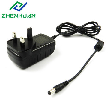 3 Pin UK Plug 9V AC/DC CE Adapter