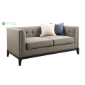 Contemporary Living Room Furniture Fabric Double Seat Sofa