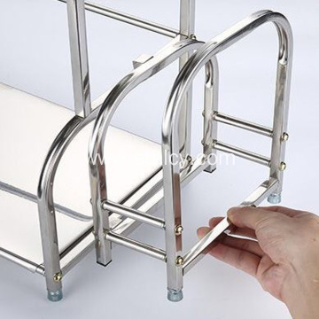 Stainless Steel Kitchen Floor Shelf Storage Rack